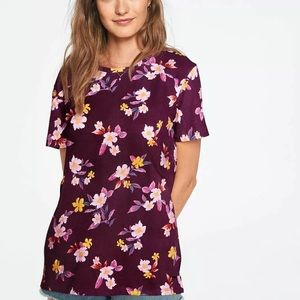 PINK Perfect Crew Neck Floral Tee NIP